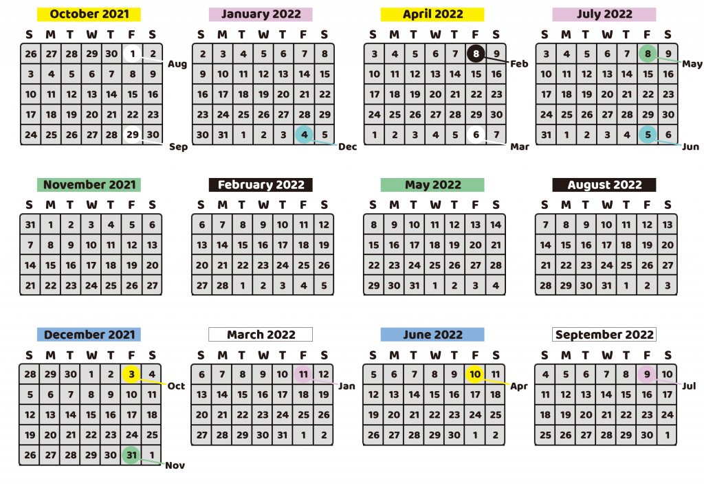 Payment Schedule (2021 - 2022)